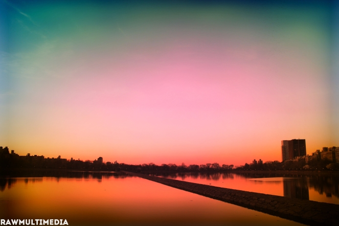 Central Park NYC Golden Sunset - RawMultimedia Landscape Photography - c